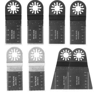 8pcs Mix Saw Blades Set For Fein Multimaster Bosch Makita Oscillating Multitool