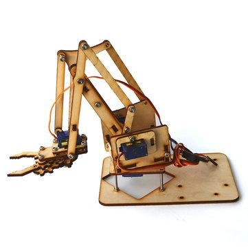 4DOF Wood Arm Mechanical Robot Arm Kit with SG90 Servo for Arduino