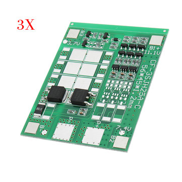 3pcs DC 12V 6A Three String Battery Protection Board Panels Solar Street Lights Sprayer Protection Board With Balanced