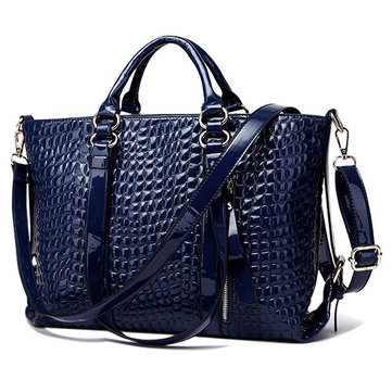 Crocodile Pattern Ladies Handbag Shoulder Diagonal Tote Bag