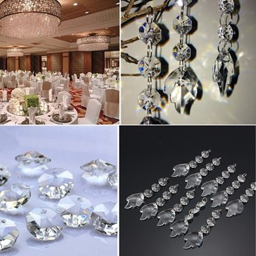 Acrylic Crystal Maple Leaf Shape Beads Garland Chandelier Hanging - Chandelier acrylic crystals