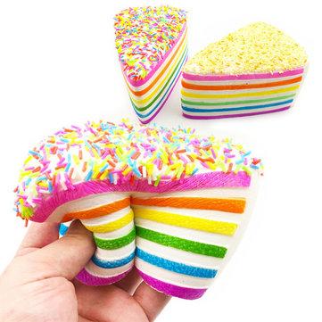 14x9x8cm Squishy Rainbow Cake Simulation Super Slow Rising Fun Gift Toy Decoration