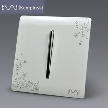 Kempinski Wall Switch Panel 250V 10A - One Switch Double Control