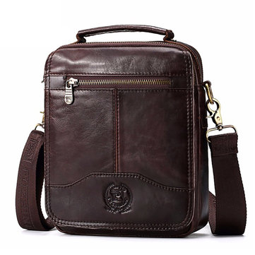 Men Messenger Bags Genuine Leather Bag Crossbody Bag