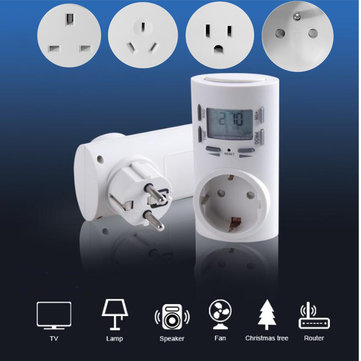 TM601 125V/230V 10A Digital Timing Switch Time Control Socket Outlet 24 Hours