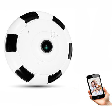 Mini 360° Panoramic Wifi Wireless Fisheye IP Camera Two Way Night Vision