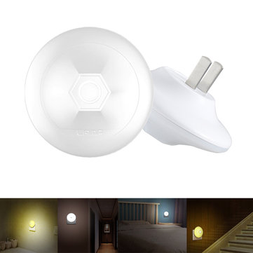 0.5W Light Sensor UFO Shape Night Light Wall Lamp US Plug for Bedroom AC110-220V