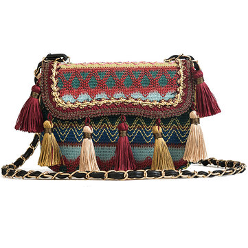 Women Tassel Bohemian Shoulder Bag Crossbody Bags Travel Bag