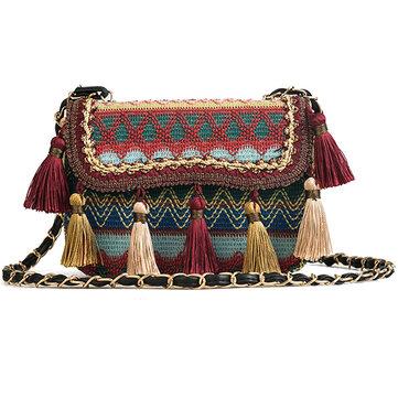 Women Tassel Bohemian Shoulder Bags Crossbody Bags Travel Bag