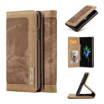 Caseme Magnetic Flip Kickstand Wallet Card Slot Case For iPhone X