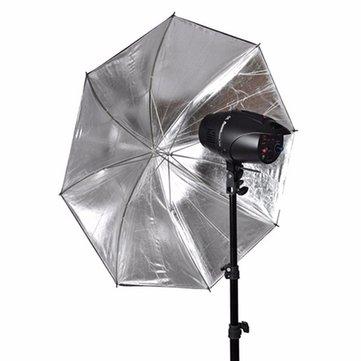 110cm 43 inch Black Silver Reflective Umbrella Reflector For Photography Light Studio Softbox