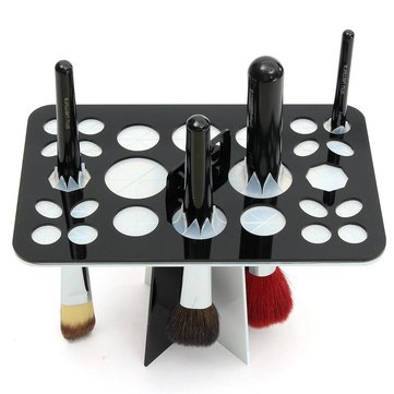 25 holes acrylic makeup brush rack eyeshadow pen brushes dryer organizer holder stand at. Black Bedroom Furniture Sets. Home Design Ideas