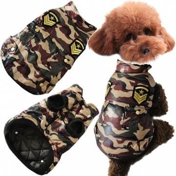 Winter Dog Jacket Pet Cat Camouflage Jacket Dog Coat Warm Cotton Dog Clothes Battle Fatigues