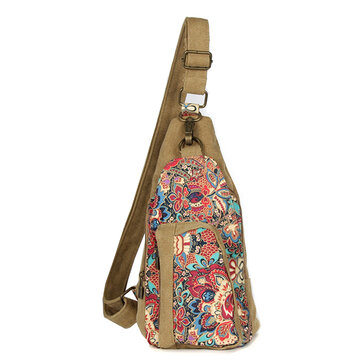 Brenice Retro National Floral Women Crossbody Bag Sling Bag