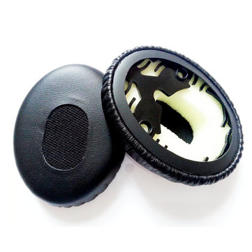 Soft Replacement Earpads Headbrand Cushion Black Earpads For Bose QC3 Headphones