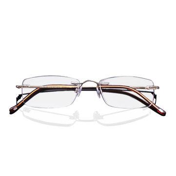 LianSan®Titanium Portable Anti-fatigue Reading Glasses Frameless Resin Alloy Presbyopic Glass L8085