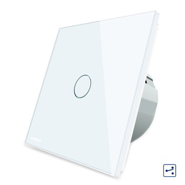 Livolo White Glass Touch Panel EU Standard Intermediate Switch VL-C701S-11