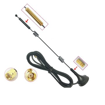 2.4GHz/5GHz/5.8GHz WiFi Dual Frequency 12dBi High Gain 1.5m Mini Sucker FPV Car Antenna