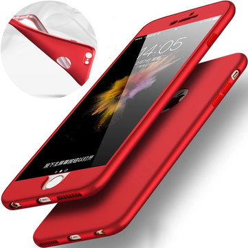 Bakeey™ 2 in1 360° Full Body Hybrid Front PC + Back Soft TPU Cover Case for iPhone 6Plus 6sPlus