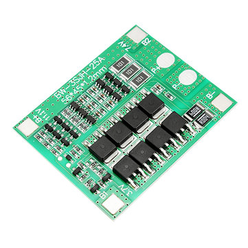 3S 12V 25A 18650 Lithium Battery Protection Board 11.1V 12.6V High Current With Balanced Circuit Over Charge Over Discharge Over Current And Short Circuit Protection Function