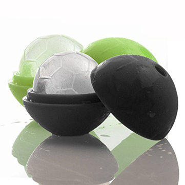 KCASA Creative Soccer Ice Cubes Tray Reusable Mutil-color Silicone Ice Mold Ice Genie Lollipop Maker Mold Kitchen Bar Tools Cocktail Whisky Ice Ball