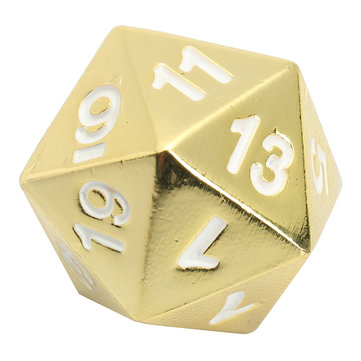 Zinc Alloy Multisided Dices Polyhedral Gold finished Dice RPG