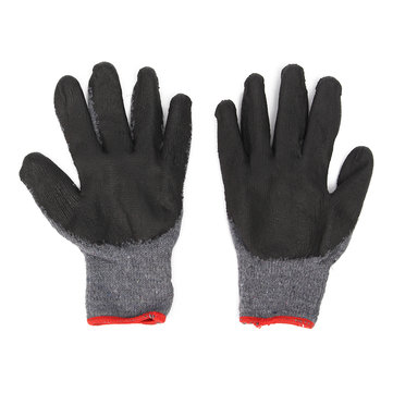 Cotton Coat Garden Worker Soft Latex Rubber Work Labor Gloves Anti Prick Safe Gloves