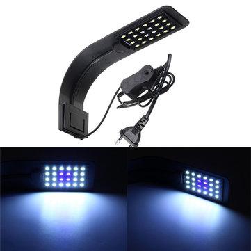 10W 24 LED Aquarium Lampe Fish Tank Aquarium Clip Lumière AC220V