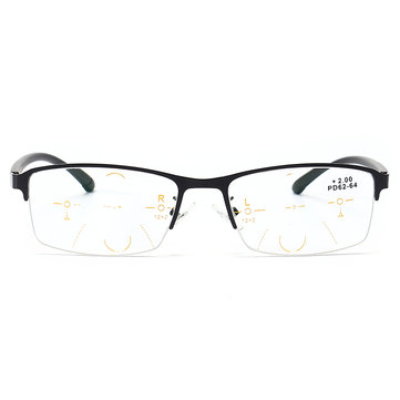 KCASA Progressive Multi-focus Reading Glasses Multifocal Metal Glass 9609