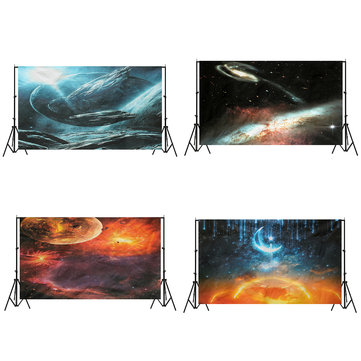 3x5FT Vinyl Star Sky Moon Photography Background Backdrop Studio Prop