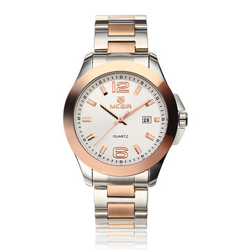 MEGIR 5006G Stainless Steel Band Analog Quartz Wrist Watch