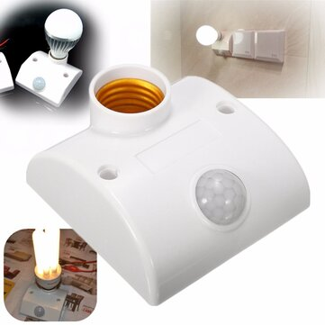E27 PIR Infrared Motion Sensor LED Light Lamp Holder Control Switch
