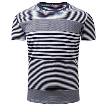 T-shirt à manches courtes à rayures loisirs