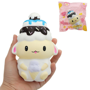 Ice Cream Sheep Squishy 14*9.5CM Slow Rising With Packaging Collection Gift Soft Toy