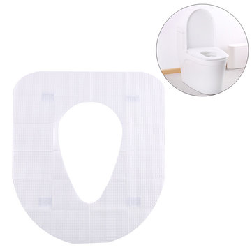 IPRee® 10 pcs Disposable Toilet Seat Cover Mats Maternal Travel Toilet Pad Paper Padded Cushion Paper