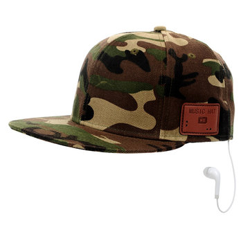 Camouflage Color Bluetooth Cap Unisex Fashionable Music Bluetooth Hat