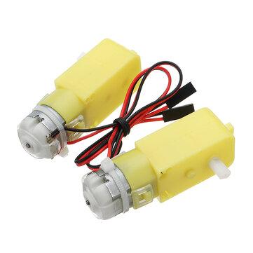 4 pièces KittenBot® 5V Moteur à engrenages CC à 200 tours / minute pour DIY Arduino