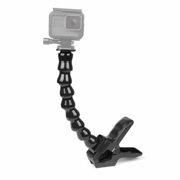 SHOOT XTGP117 Universal 24cm Gooseneck Adjustable Flexible Jaws Clamp Mount Stand Clip Arm Monopod For GoPro Hero 6 5 4 3 SJCAM Xiaomi Yi Action Cameras