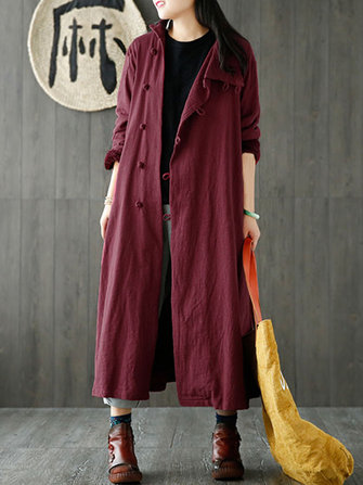 M-5XL Stand Collar Cotton Coat