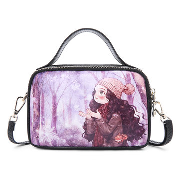 Women Print Handbag Leisure Cartoon Crossbody Bag