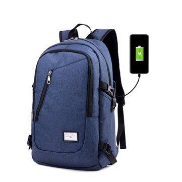 Outdoor impermeabile Laptop Backpack Borsa Travel Borsa con caricatore USB esterno Borsa