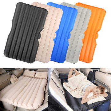 IPRee® SUV Inflatable Air Mattresses Car Back Seat Sleep Bed Camping Travel Flocking Pad Cushion