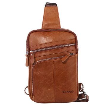 MannenVintageOrigineleLeatherBustBag Crossbody Bag