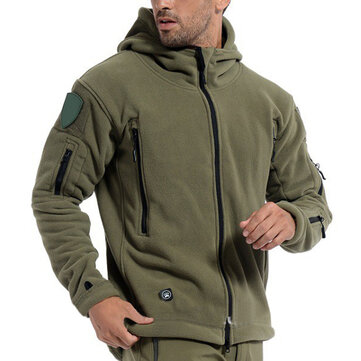 Men Tactical Military Winter Fleece Outdoor Jacket