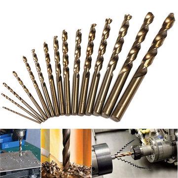 15pcs 1.5-10mm HSS M35 Cobalt Twist Drill Bit