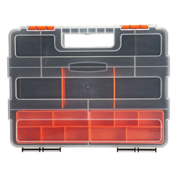 Plastic Work Tools Screw Storage Box Handle Accessories Holder Protable Handle
