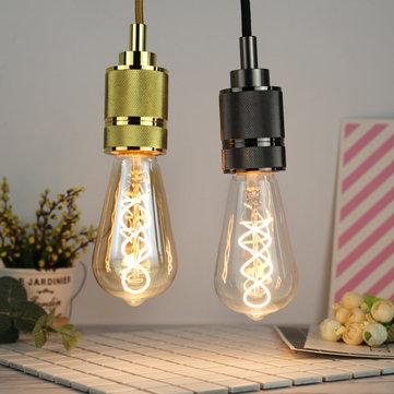 E27 4W ST64 Edison Dimmable Clear Gold Warm White Retro Edison LED Light Bulb AC110-130V AC220-240V