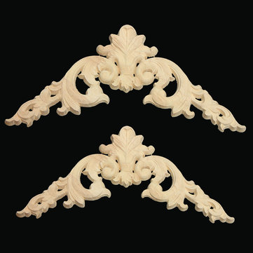 Wood Applique Wooden Atures Oak Wood Carving Decal Furniture Decor 15cm/20cm