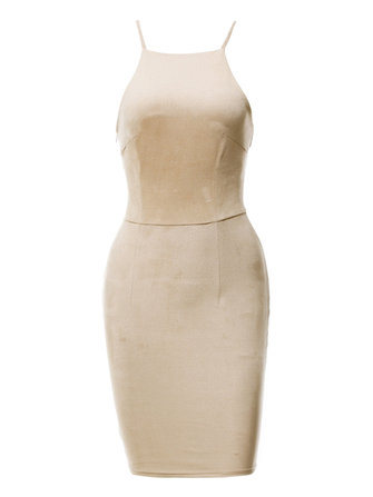 Sexy Women Sleeveless Harness Cross Bandage Pencil Dresses