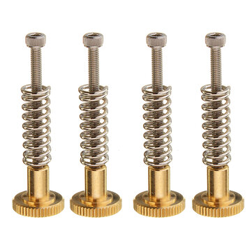 4Pcs UM2 Heated Bed Leveling Hand Adjustment Fixing Nut Part Kit w/ M3 Screw for 3D Printer